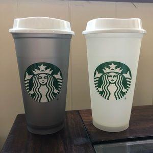 Starbuck's - set of 2 - coffee cups - 16oz